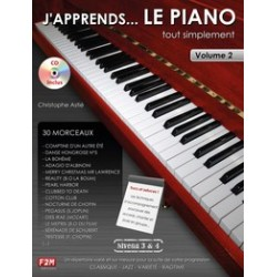 J'APPRENDS....LE PIANO Niveau 3&4 Vol.2 C.Astié CD