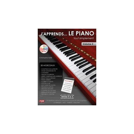 J'APPRENDS....LE PIANO Niveau 3&4 Vol.2 C.Astié CD