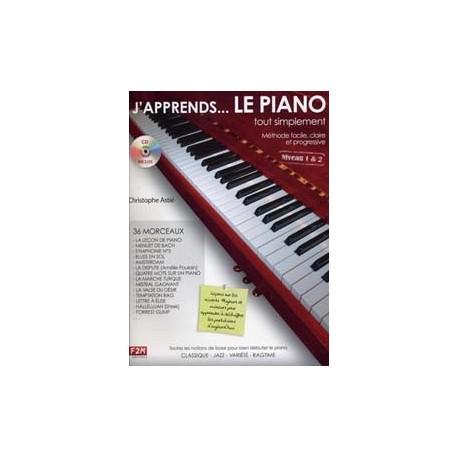 J'APPRENDS...LE PIANO tout simplement Niveau 1&2 C. Astié CD