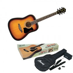 PACK GUITARE FOLK IBANEZ V50 SUN BURST Jam Pack