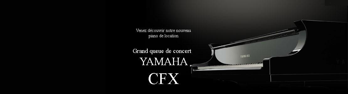 YAMAHA CFX PIANO LOCATION CONCERT BAUER MUSIQUE ORLEANS